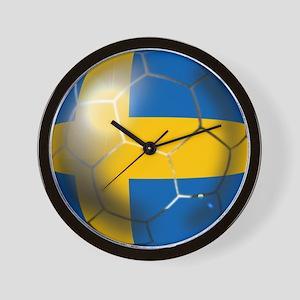 Sweden Soccer Ball Wall Clock
