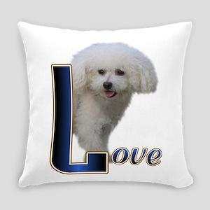 Love Bichon Everyday Pillow
