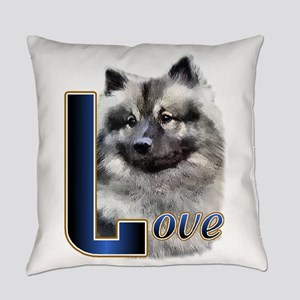 Love Keeshond Everyday Pillow