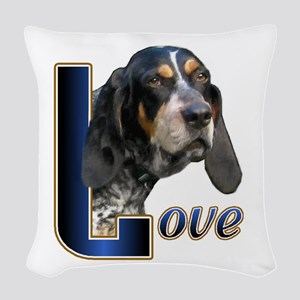 Love Bluetick Coonhound Pillo Woven Throw Pillow
