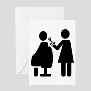 Hairdresser symbol Greeting Cards