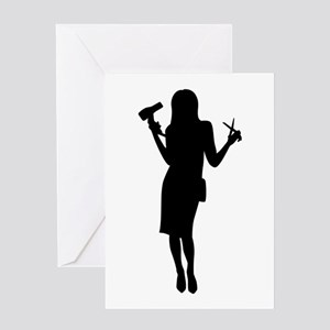 Hairdresser woman girl Greeting Cards