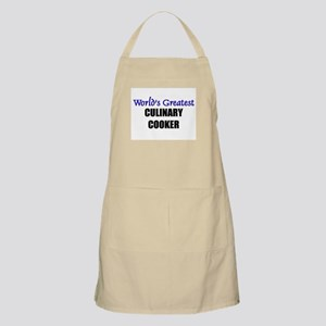 Worlds Greatest CULINARY COOKER BBQ Apron