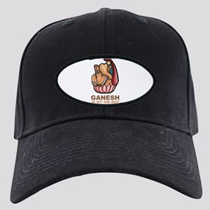 Ganesh Is My Om Boy Black Cap
