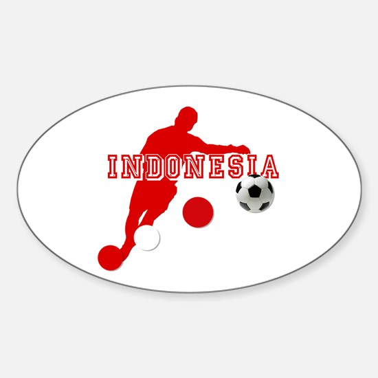 Indonesia Football Player Sticker (Oval)