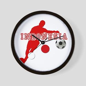 Indonesia Football Player Wall Clock