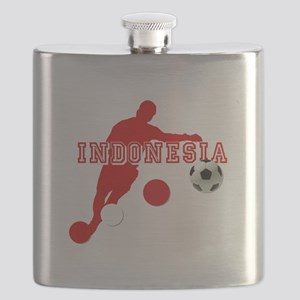 Indonesia Football Player Flask