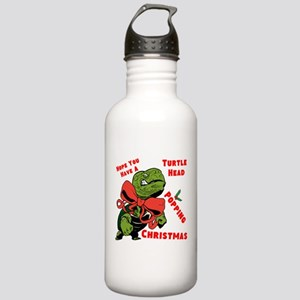 Turtle Head Popping Christmas Water Bottle