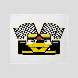 YELLOW RACECAR Throw Blanket