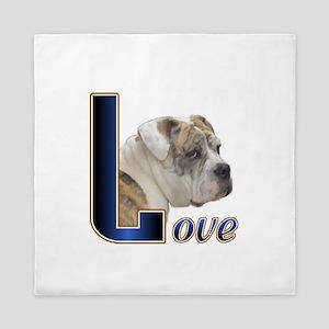 Old English Bulldog Love Queen Duvet