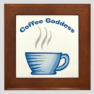 Coffee Goddess Framed Tile