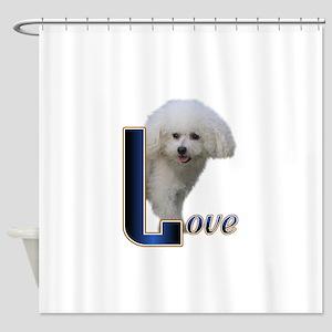 Love Bichon Shower Curtain