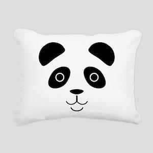 Panda Face Rectangular Canvas Pillow