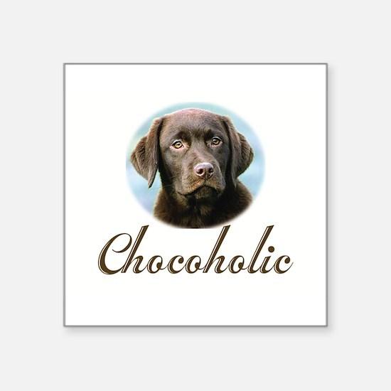 """Cute Chocolate lab Square Sticker 3"""" x 3"""""""