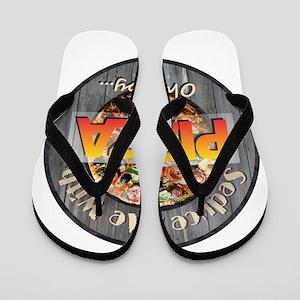 PIZZA - Seduce Me Flip Flops