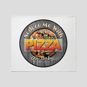 PIZZA - Seduce Me Throw Blanket