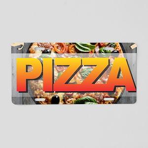 PIZZA - Seduce Me Aluminum License Plate