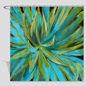 Tropical Lotus Delight Shower Curtain