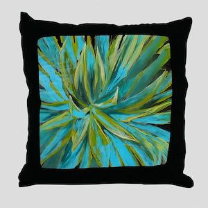 Tropical Lotus Delight Throw Pillow