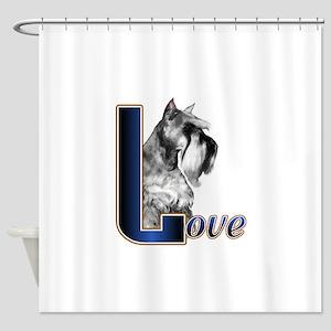 Miniature Schnauzer Love Shower Curtain