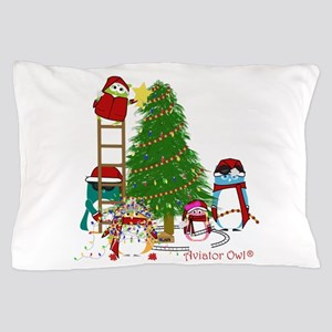 5 Owls Decorate A Tree Pillow Case