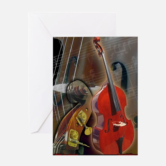 Cute Upright bass Greeting Card