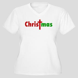 CHRISTmas Women's Plus Size V-Neck T-Shirt