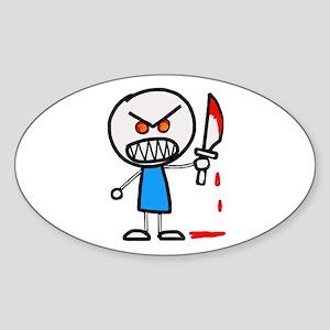 Psycho Stick figure Sticker