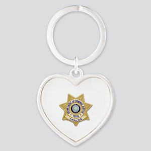TDCJ Badge Heart Keychain