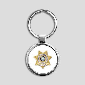 TDCJ Badge Round Keychain