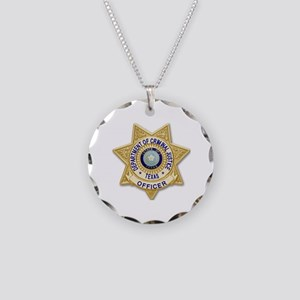 TDCJ Badge Necklace Circle Charm