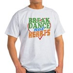 Break Dance Not Hearts Ash Grey T-Shirt