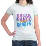 Break Dance Not Hearts Jr. Ringer T-Shirt
