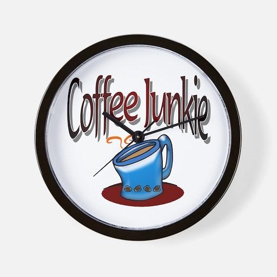 Coffee Junkie Wall Clock
