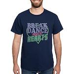 Break Dance Not Hearts Dark Blue T-Shirt