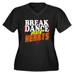 Break Dance Not Hearts Women's Plus Size V-Neck Da