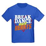 Break Dance Not Hearts Kids Royal Blue Tee