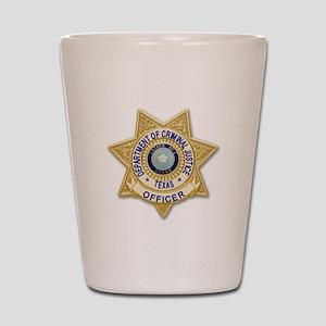 TDCJ Badge Shot Glass