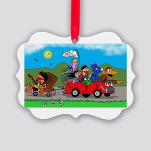 Wolfy and pals Picture Ornament