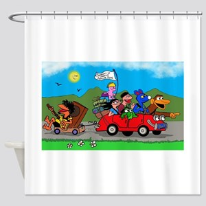 Wolfy and pals Shower Curtain