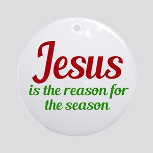 Jesus Season Round Ornament