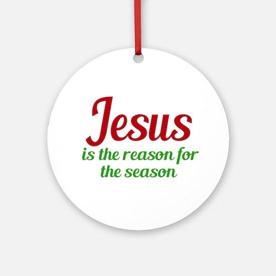 Jesus Season Round Ornament