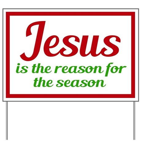 Jesus Season Yard Sign