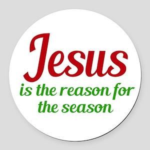 Jesus Season Round Car Magnet