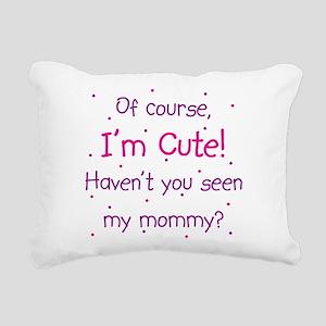 Cute Mommy Rectangular Canvas Pillow