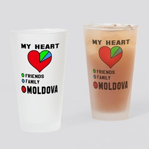 My Heart Friends, Family and Moldov Drinking Glass