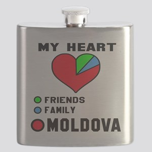My Heart Friends, Family and Moldova Flask