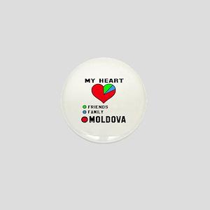 My Heart Friends, Family and Moldova Mini Button