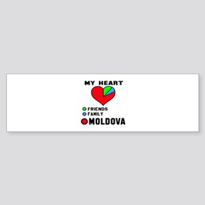 My Heart Friends, Family and Mold Sticker (Bumper)