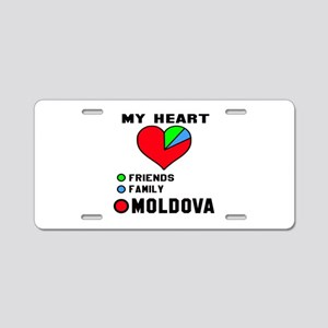 My Heart Friends, Family an Aluminum License Plate